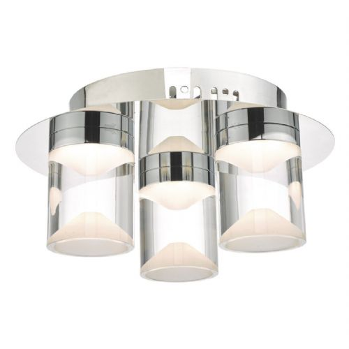 Susa 3lt Flush Polished Chrome & Acrylic LED Bathroom IP44 (double insulated) BXSUS5350-17